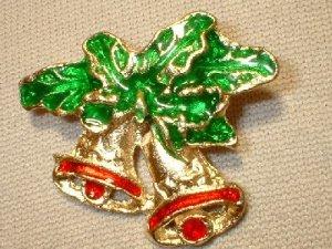 Christmas Bells Pin/Broach