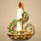 Christmas Candle Pin/Broach