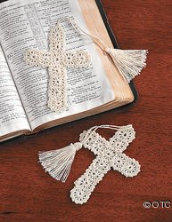 Crocheted Cross Bookmark