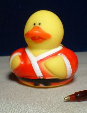 Karate Rubber Ducky with Black Belt