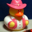Cowgirl Rubber Ducky with Pink Vest