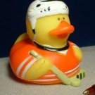 Hockey Rubber Ducky with Orange Outfit