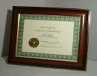 "POLICE REGISTRY ""Framed Membership Certificate"""