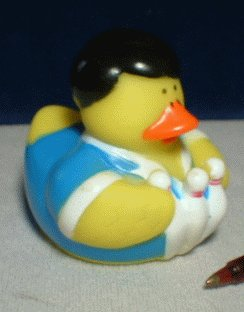 Bowling Rubber Ducky - Male with Pins