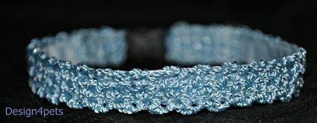 Melody - blue silverglitter cat collar - unique handmade design
