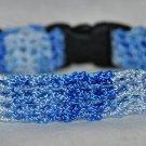 Shadow- Unique handmade blue crochet Cat collar - breakaway adjustable safety cat collar