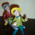 Vintage Italian Figurine of 2 Boys carrying a Snake Serpent