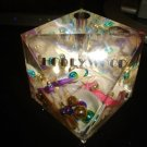 VINTAGE LUCITE HOLLYWOOD PAPERWEIGHT PENHOLDER SOUVENIR SNOWGLOBE