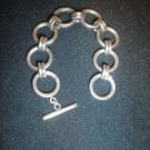 925 Sterling Silver ladies Bracelet Scrap Or Wear  Circles