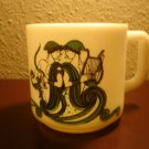 1976 Milk glass Zodiac Gemini Mug May June