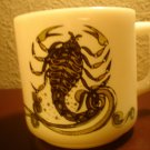 1976 Milk glass Zodiac Scorpio Mug Oct Nov