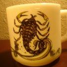 1976 Milk glass Zodiac Scorpio Mug Oct Nov