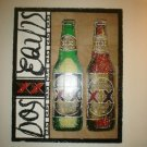 Wooden Cut Out Dos Equis Beer Advertisement Sign