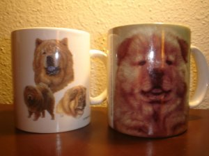 Set of  Vintage Chow Chow Dog Mugs