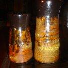 Vintage Lava Drip Pottery Salt & Pepper Shakers