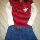 Gymboree Girls Skirt Size 7  w Beverly Hills Polo Shirt Size 5 -6