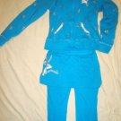 Very Cute Fila Sport  Set  Girls Jacket SZ 10 Pants SZ 8