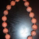 1920's Inspired Coral colored Graduated Bead Necklace