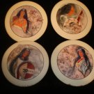 4 Coasters by Cherokee Native American Artist Traci Rabbit