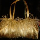 Vintage  Gold Ostrich Feather Purse