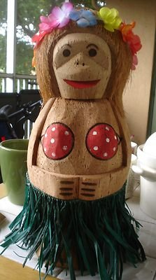 OOAK Indonesian Large Hula Woman Patio Tiki Bar Accessory