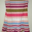 PRETTY PINK STRIPED  SPRING SUMMER OLD NAVY GIRLS DRESS SZ MED