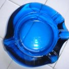 Vintage Retro Colbalt Blue Funky Ashtray