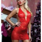 Some Like It Hot Chemise And Thong Red