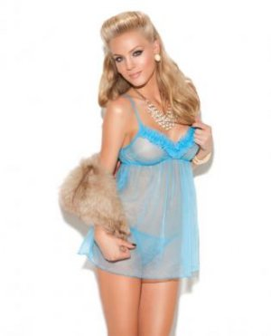 Vivace babydoll and g-string turquoise