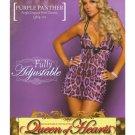 Purple Panther Leopard Print Chemise