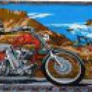 Biker and Horse Rider Desert  Wallhanging