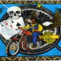 Drink, Play and Ride Motorcycle Bikers Wallhanging