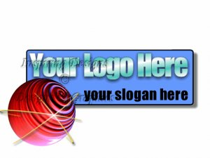 Red Sphere with Banner Logo 9