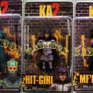 KICK ASS KA 2 Hit-Girl KA MF'ER Action Figures Set 3 NECA (Free Shipping)