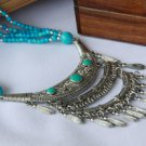 National characteristics of three layers of Tibet listing Tassel Necklace E-035 N040