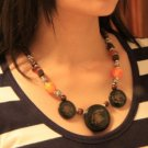 Tibet national retro color disc classic Necklace F-114 N062