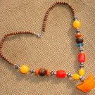 Tibet National Gold Beads Necklace D-05 personality elements N073