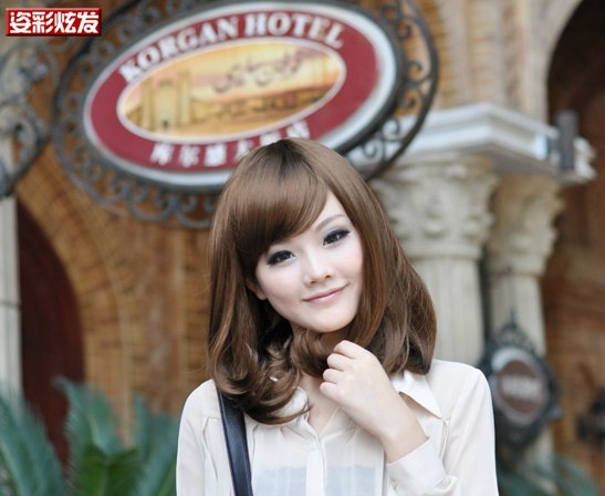 Free Shipping high quality Guarantee100% A++++++ Hot-sales brand new  wig W002 oblique bangs bobo