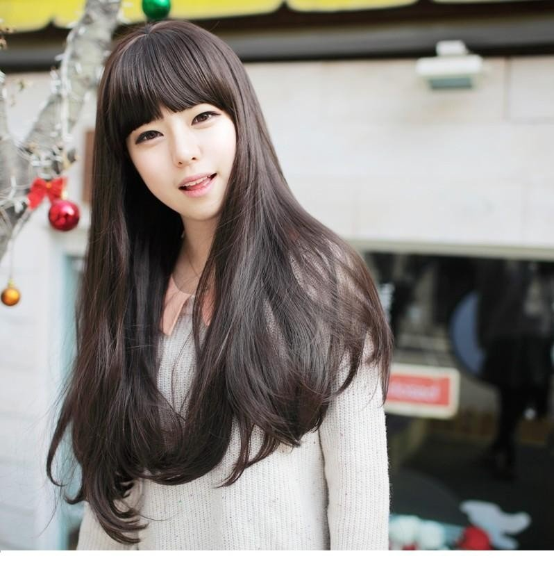 Free Shipping high quality Guarantee100% A++++++ Hot-sales brand new  wig W004 Long straight hair