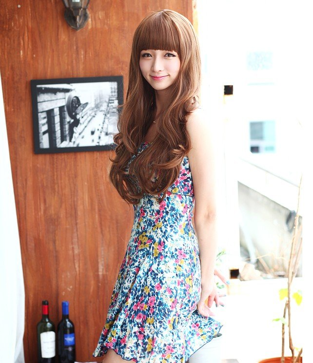 Free Shipping high quality Guarantee100% A++++++ Hot-sales brand new  wig W010 Qi bangs long hair