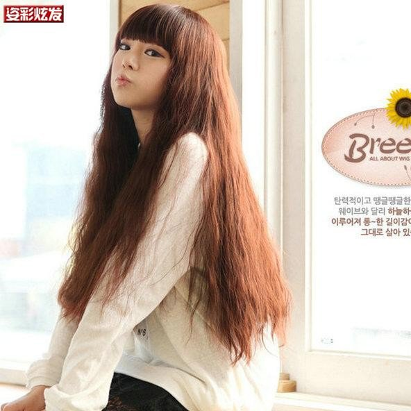 Free Shipping high quality Guarantee100% Hot-sales brand new  wig W014 Qi bangs long hair