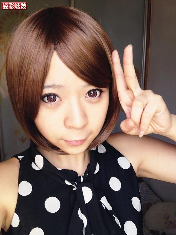 Free Shipping high quality Guarantee100% Hot-sales brand new  wig W024 BOBO oblique bangs