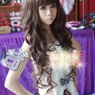Free Shipping high quality Guarantee100% Hot-sales brand new  wig W025 Long curly hair Qi Liu
