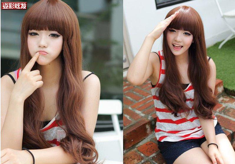 Free Shipping high quality Guarantee100% Hot-sales brand new  wig W026 Long curly hair Qi Liu