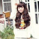 Free Shipping high quality Guarantee100% Hot-sales brand new  wig W028 Oblique bangs long hair