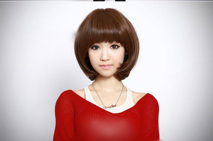 Free Shipping high quality Guarantee100% Hot-sales brand new  wig W029 Qi bangs short hair bobo