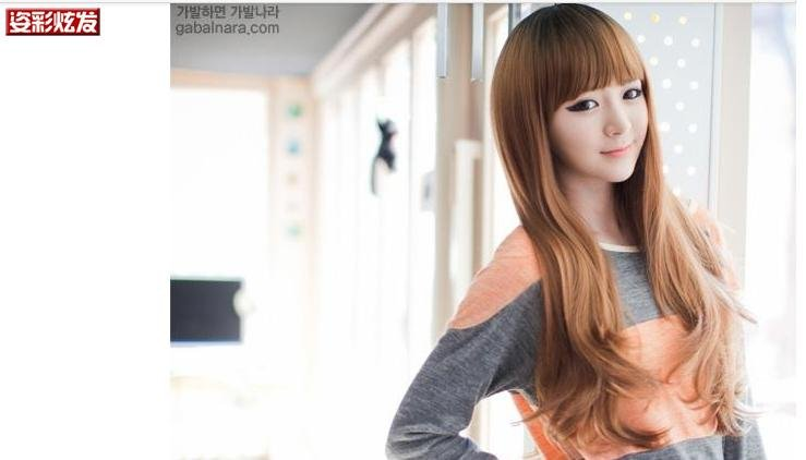 Free Shipping high quality Guarantee100% Hot-sales brand new  wig W038 Qi bangs long curly hair