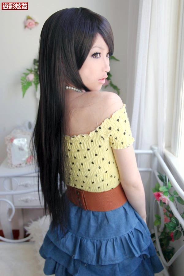 Free Shipping high quality Guarantee100% Hot-sales brand new  wig W039 Long straight hair
