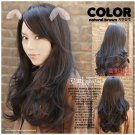 Free Shipping high quality Guarantee100% Hot-sales brand new  wig W045 Oblique bangs long hair