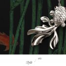 Free Shipping high quality 925Sterling Silver Guarantee100% Fashion Fish Necklace N014